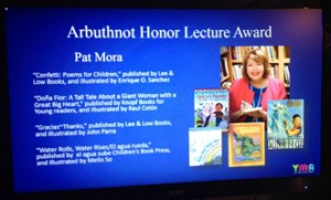 Pat Mora will give the 2016 May Hill Arbuthnot lecture