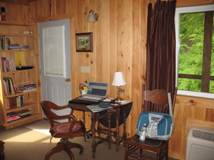 The Highlights Foundation cabins & lodge rooms are perfect for getting some writing done!