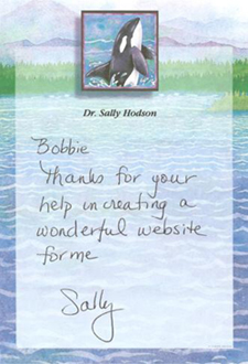 Thank you note from Dr. Sally Hodson