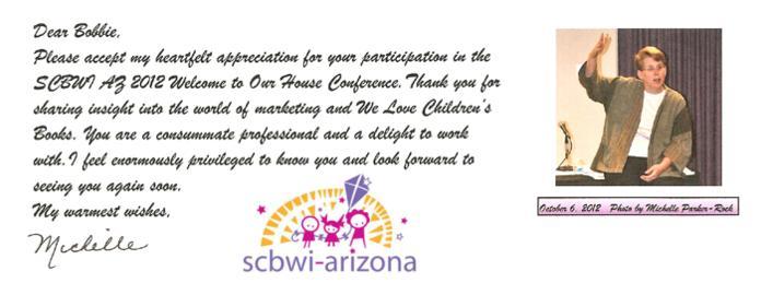 SCBWI-AZ thanks